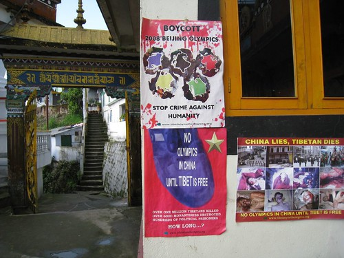 Posters in a monastery