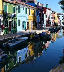 Colourful houses of Burano #1 (John in Scotland) Tags: world houses italy heritage site europe mediterranean italia lagoon canals unesco venetian colourful burano veneto p1120513fk