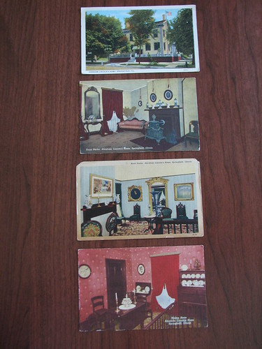 abe lincoln home postcards