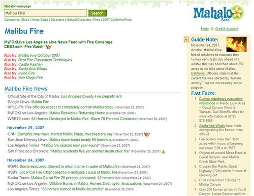 Mahalo & Malibu Fires