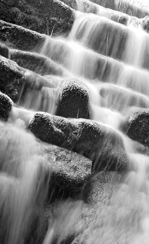 Badger falls B&W different angle