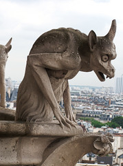 Gargoyle (Andy Hay) Tags: roof sculpture paris france church stone