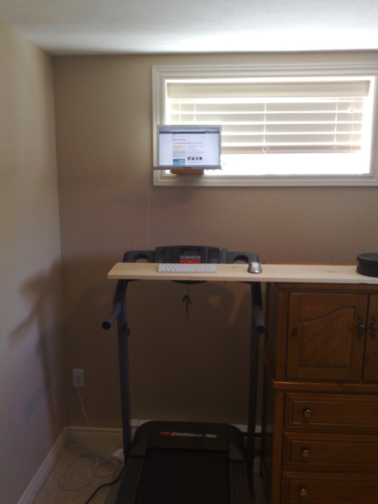treadmill workstation front view