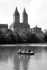 | | (Milton CJ) Tags: nyc newyorkcity bridge trees summer bw water landscape 50mm boat centralpark towers 5d twintowers artdeco canon5d pound canoneos5d canonef50mmf18ii 123bw