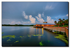 Night is Falling (Fraggle Red) Tags: longexposure lake nature night sundown florida dusk wetlands boardwalk jpeg hdr stormclouds puffyclouds boyntonbeach canonefs1022mmf3545usm 3exp platinumphoto greencaywetlands anawesomeshot picturefantastic greencaynaturecenter dphdr palmbeachco