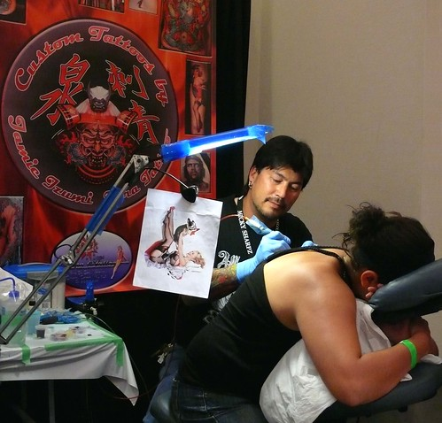 Jamie Izumi of Tora Tattoo - a local artist whose work (as entered in the convention contests on Anyone can see this photo All rights reserved