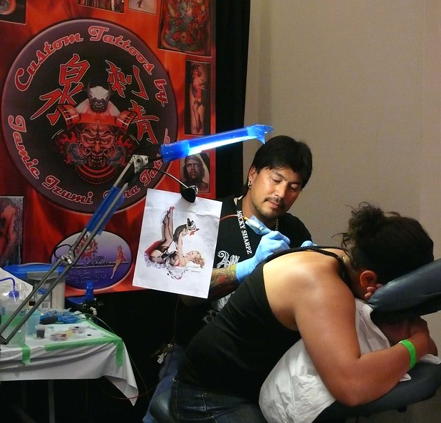Jamie Izumi of Tora Tattoo - a local artist whose work (as entered in the