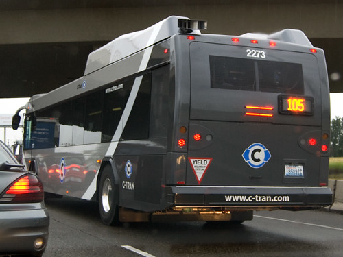 C-Tran Big Grey Bus