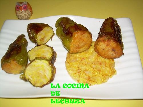 Pimientos Arnoia fuente con tortilla