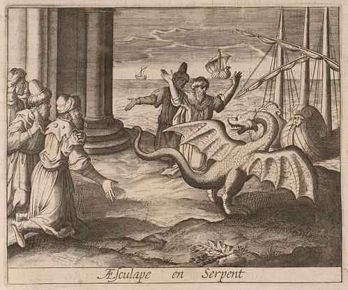17-Esculapio en forma de sepriente-dragon