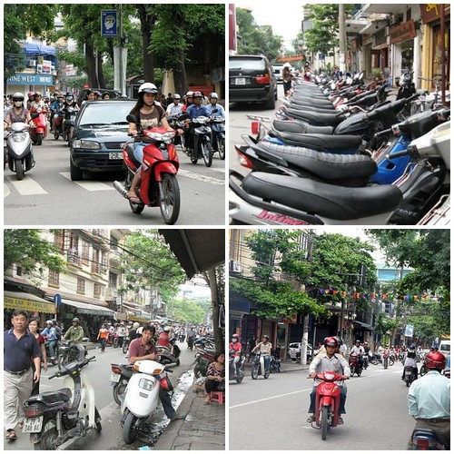 motorcycles in Hanoi, Vietnam
