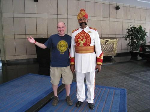 Making friends at The Maurya