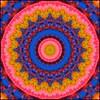 Comin' at Ya! (Lyle58) Tags: pink red orange abstract green geometric colors yellow circle feathers kaleidoscope mandala symmetry zen harmony reflective symmetrical balance circular kaleidoscopic kaleidoscopes kaleidoscopefun kaleidoscopesonly brandyshaul