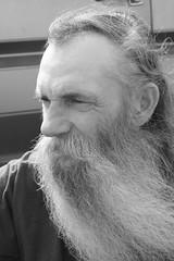 IMG_0388 (Kittie55) Tags: tattoo beard boots homeless woody biker breakdown paducah outlaws prosthesis cartrouble amputee traveler prosthetics priceofgas artificialleg artificiallimb