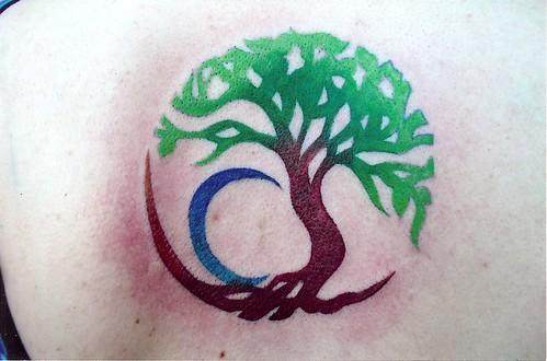 tribal tattoos circle. Circle Tree Tattoo