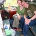Dave and Sarah Giles on sleeper train, Asia