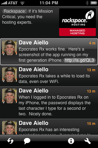 Twitterific iPhone Application Screenshot