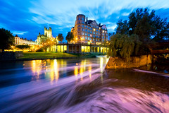 friday night (chapmonkey) Tags: city water night river lights bath bravo iso400 selected f11 avon swirly weir 10mm sigma1020 20sec
