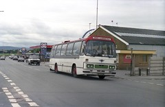 AEC Reliance, Rhyl Pleasure Beach. (Renown) Tags: buses express esso rhyl coaches swt dominant petrolstation towyn northwales reliance pleasurebeach aec clwyd duple coachpark southwalestransport ah760 dominant1 hcy470n jonesofllanfaethlu