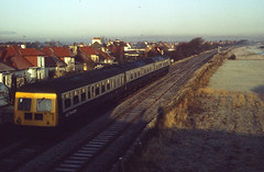 Class 126 d.m.u. southbound on Troon avoiding line 27-11-82. A. Wilson