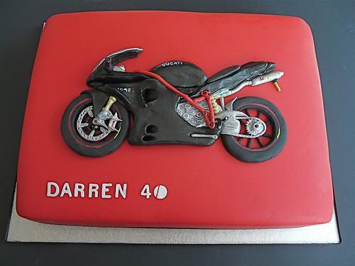 Ducati 1098S Motor Bike Birthday Cake