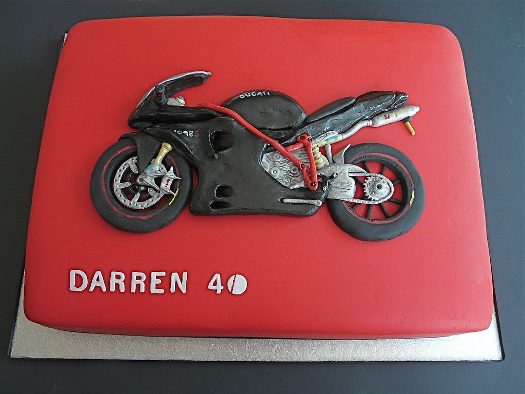 Ducati 1098S Motor Bike Birthday Cake