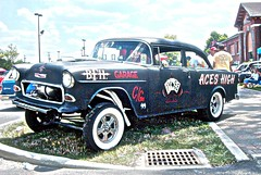 55 Chevy Aces High - Comp Gasser (osubuckialum) Tags: chevrolet classiccar views 1000 gasser ratrod 55chevy dragcar aceshigh