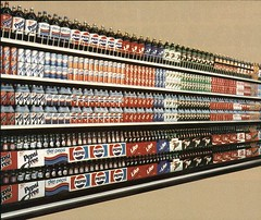 Soda Display from the year 1984 (SA_Steve) Tags: glass vintage ads bottles display like coke supermarket pop 1984 pepsi soda advertisements 7up tab sunkist foundontheweb vintageads pepsifree