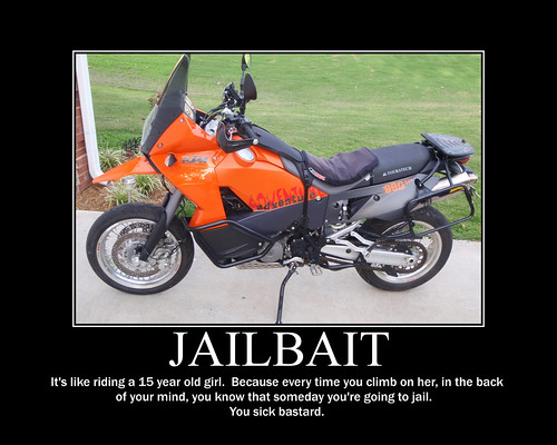 jailbait photo motorcycle
