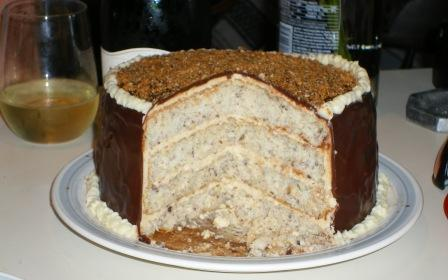 Filbert Cake Sliced