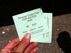 Cup Match 2008 Tickets
