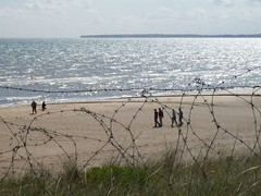 Utah Beach,Normandy (santosbanjo) Tags: people france history beach grass walking utah wire sand war peace time wwii battle landing land barbed normandy