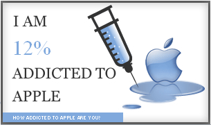 12% d'addiction à Apple
