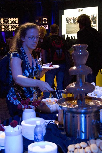 Google IO Chocolate Fountain