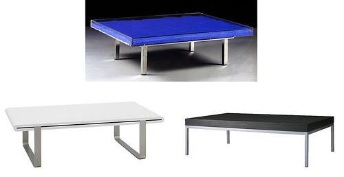 yves klein tables