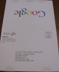Google Local Business Center Postcard - Outside