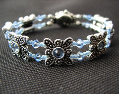 Blue Swarovski bracelet (by glamourfae)