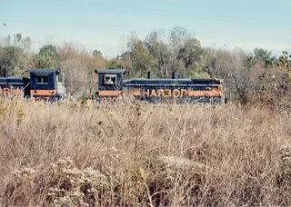 Southbound Indiana Harbor Belt transfer train. Alsip Illinois. Late October 1990. by Eddie from Chicago