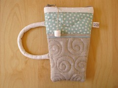 Hot Cocoa pouch 5 (PatchworkPottery) Tags: cup bag handmade sewing crafts country hotchocolate fabric pouch mug quilted patchwork cocoa hotcocoa zakka wristlet