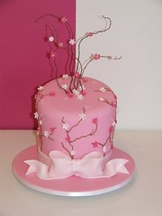CakeStar 15 Cherry Blossoms (CakeStar) Tags: birthday pink wedding flower cake japan blossom bow cherryblossom cakestar
