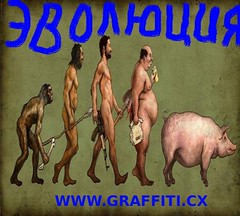 Evolution /  (www.graffiti.cx) Tags: atheism darwin evolution dna species society genetics taxonomy molecularbiology archaeopteryx    embryology     convergentevolution  comparativeanatomy                        evidenceforevolution evolutionbynaturalselection       artificialselection modernsynthesis