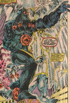 Baron Karza by Jackson Guice (Micronauts #50)