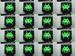 Still images from space invaders animation
