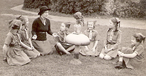 Sister Pearl with her Brownies