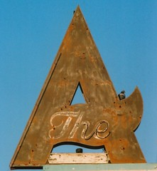 The 'A'?  A 'The' ? (Dave van Hulsteyn) Tags: sign vintage neon absurd pigeon roadtrip 66 route ballroom weathered columbine roadside aviatrix definitearticle indefinitearticle eltequila amarilloblvd