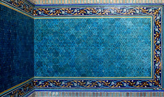 The colour of Neyshabur (Shahireh) Tags: building architecture tile religious iran  islamic khorasan neyshaboor neyshabour neyshabur  blueties emamzadeh imamzadeh neishabour