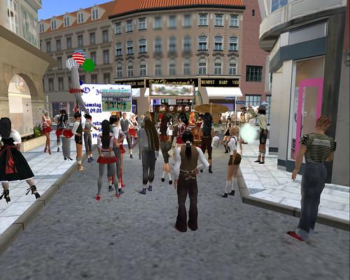 Bilder von der Wiesn 2008: Warten auf dem Umzug