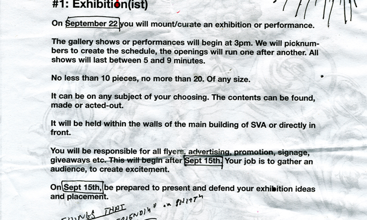 Exhibitionist_Assignment Sheet