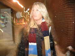 Kristen walking the winter streets in Toronto