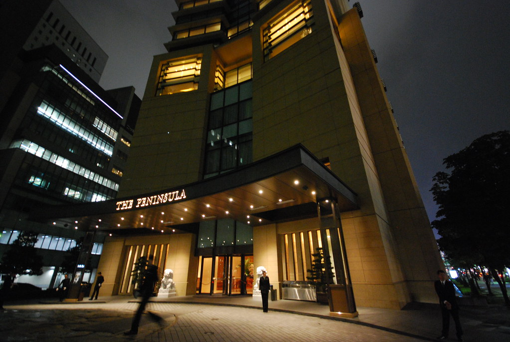 The Peninsula Tokyo, Entrance and Building facade